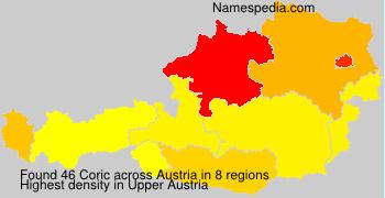 Familiennamen Coric - Austria