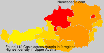 Surname Cosic in Austria