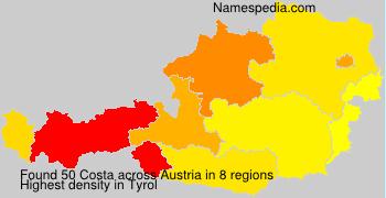 Surname Costa in Austria