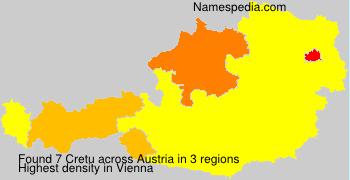 Surname Cretu in Austria