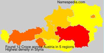 Surname Croce in Austria