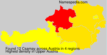 Surname Csamay in Austria