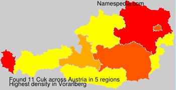 Surname Cuk in Austria
