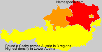 Surname Czaby in Austria