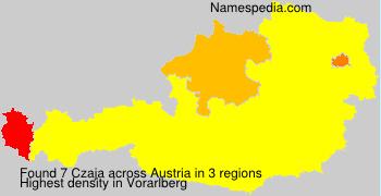 Surname Czaja in Austria