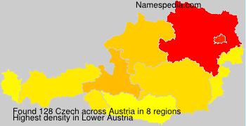 Familiennamen Czech - Austria
