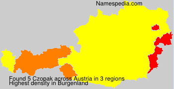 Surname Czopak in Austria