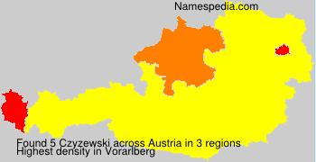 Surname Czyzewski in Austria