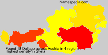 Familiennamen Dallago - Austria