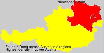 Surname Dana in Austria