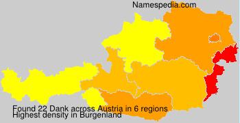 Surname Dank in Austria
