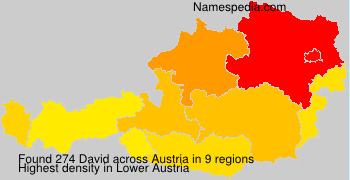 Surname David in Austria