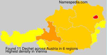 Familiennamen Dechet - Austria