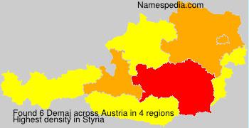 Surname Demaj in Austria