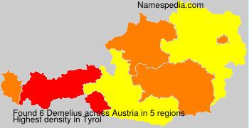 Familiennamen Demelius - Austria