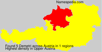 Surname Demetri in Austria