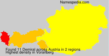 Surname Demiral in Austria