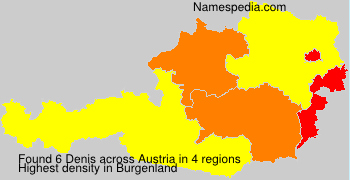 Surname Denis in Austria