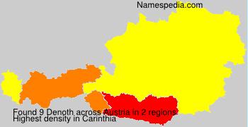 Surname Denoth in Austria