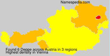 Surname Deppe in Austria