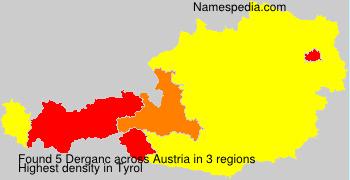 Surname Derganc in Austria