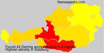 Surname Dertnig in Austria