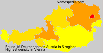 Surname Deutner in Austria