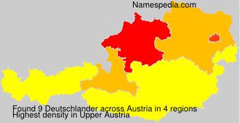 Familiennamen Deutschlander - Austria