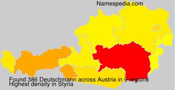Surname Deutschmann in Austria