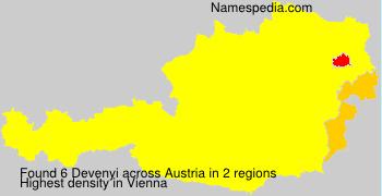 Familiennamen Devenyi - Austria