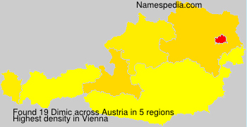 Surname Dimic in Austria