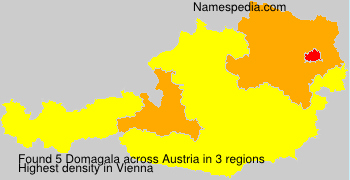 Surname Domagala in Austria