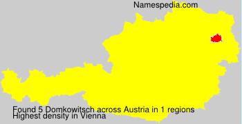 Surname Domkowitsch in Austria