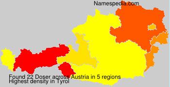 Surname Doser in Austria
