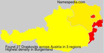Surname Draskovits in Austria