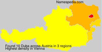 Familiennamen Duba - Austria