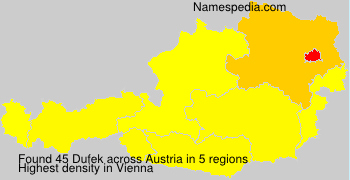 Surname Dufek in Austria