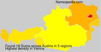 Surname Duma in Austria