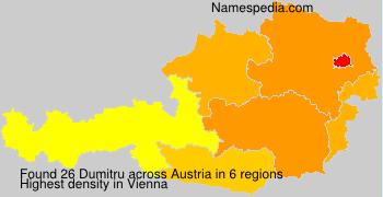 Familiennamen Dumitru - Austria