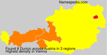 Surname Duricic in Austria