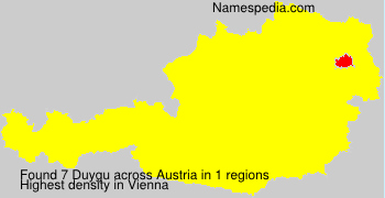 Surname Duygu in Austria