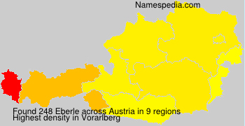 Surname Eberle in Austria