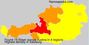 Familiennamen Ebser - Austria