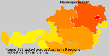 Surname Eckert in Austria