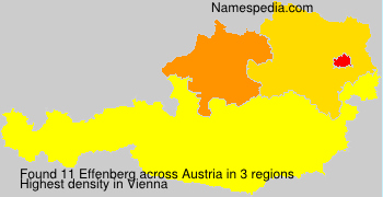 Surname Effenberg in Austria