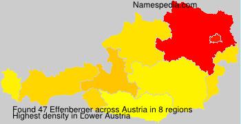 Familiennamen Effenberger - Austria