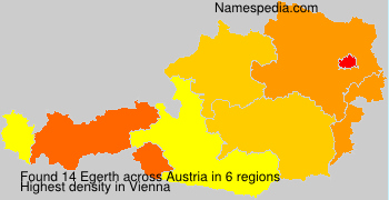 Surname Egerth in Austria