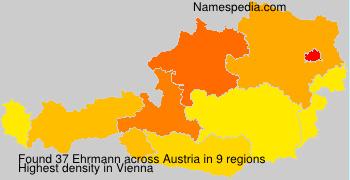 Surname Ehrmann in Austria