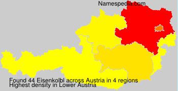 Surname Eisenkolbl in Austria