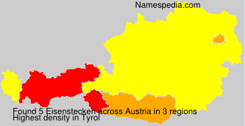 Surname Eisenstecken in Austria